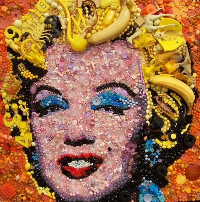 Gold Marilyn Monroe by Jane Perkins