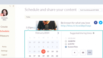 klout personalized scheduling