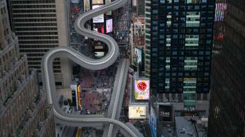 Luge, bobsled and skeleton events in Times Square