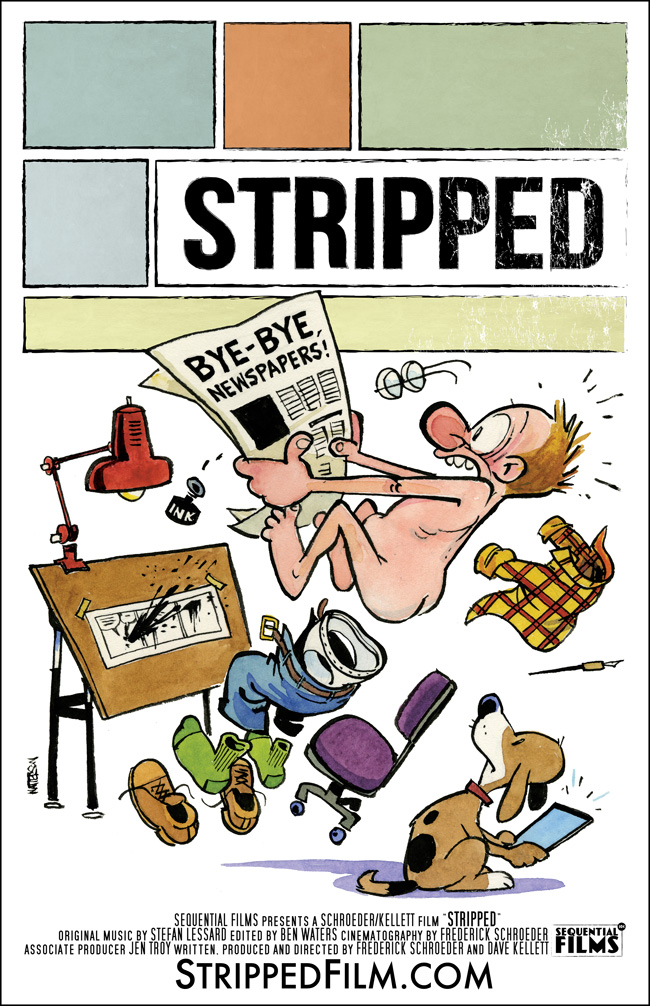 Stripped film poster by Calvin and Hobbes creator Bill Watterson