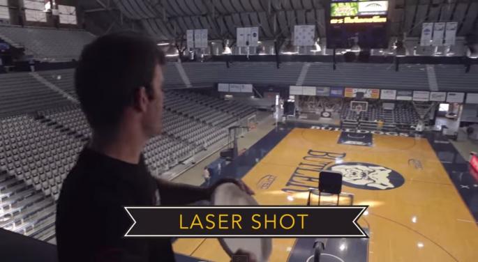 Brodie Smith Frisbee Laser Shot