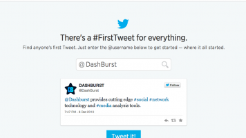 Discover your first Tweet @DashBurst