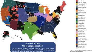 MLB opening day facebook map