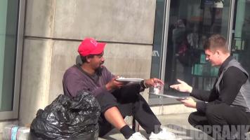 Waiter For The Homeless PublicPrank