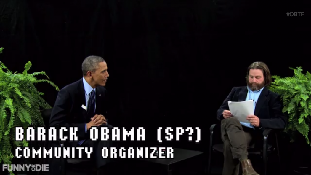 Barack Obama and Zach Galifianakis on Between Two Ferns