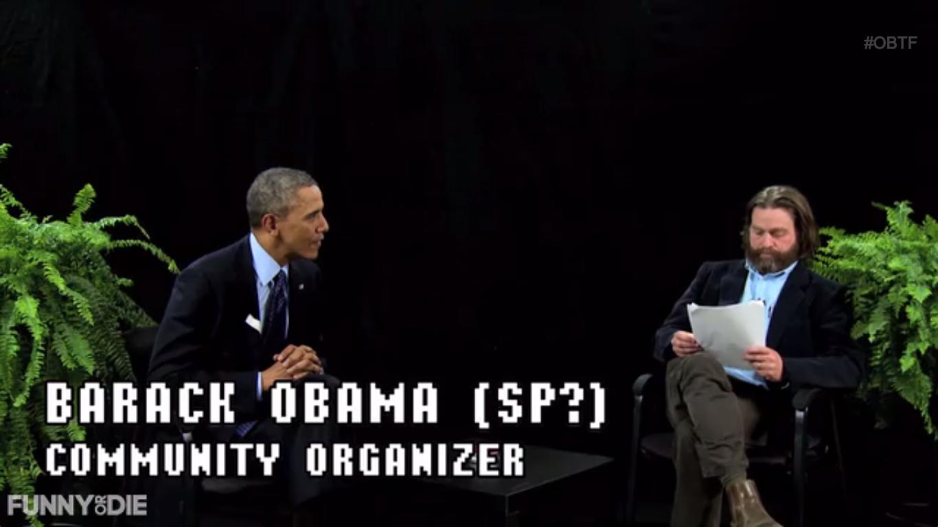 Barack Obama and Zach Galifianakis on Between Two Ferns