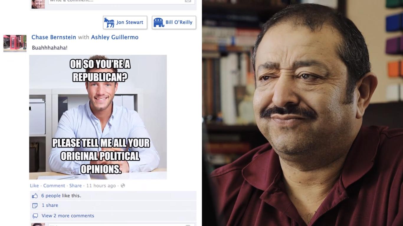 Facebook life filter for politics