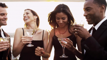 people partying in a generic brand video screencap