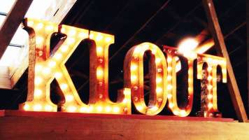 Klout in lights
