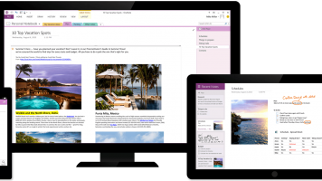 Microsoft onenote on multiple devices