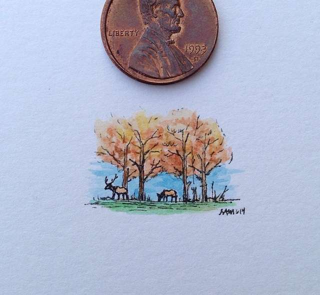 Penny drawing by sam Larson