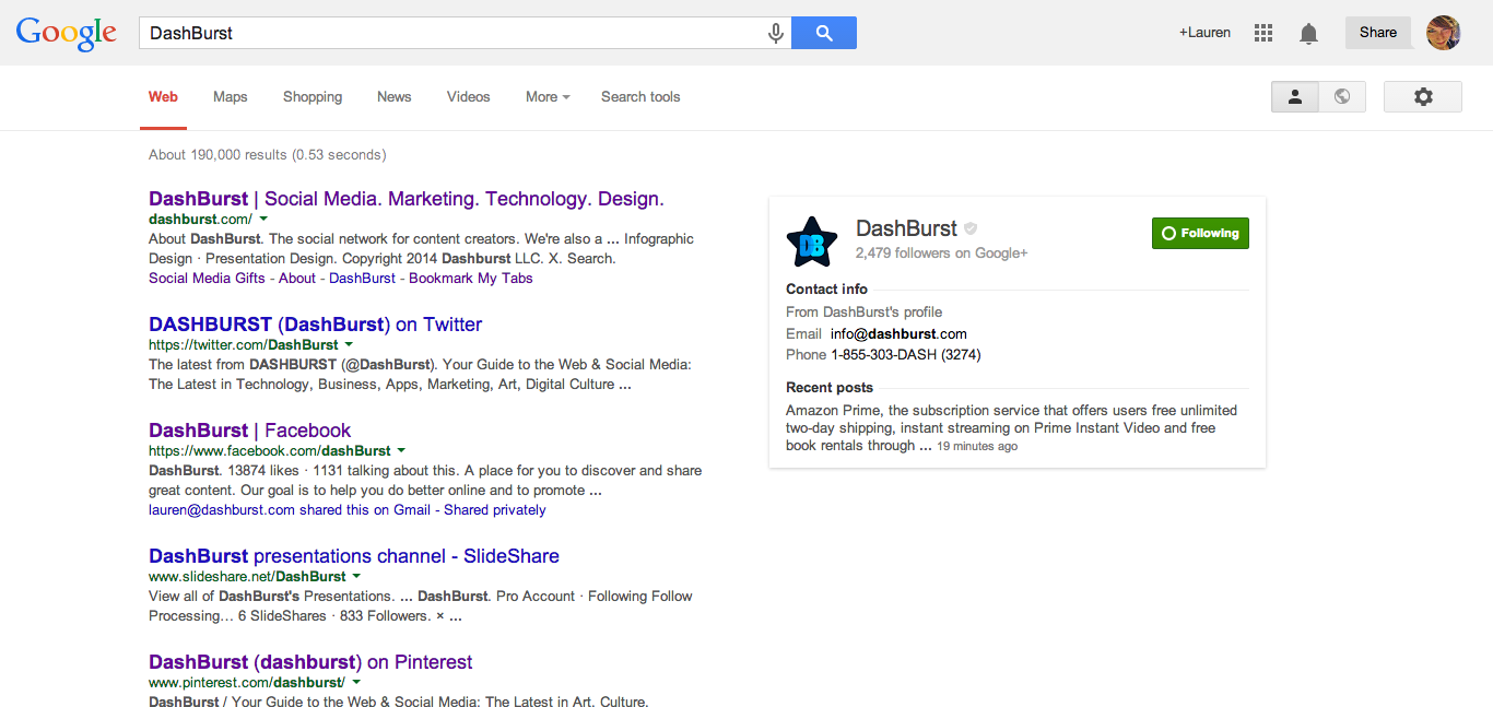 Screenshot of the redesigned Google Search
