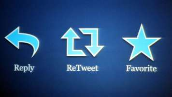 reply retweet favorite icons on twitter