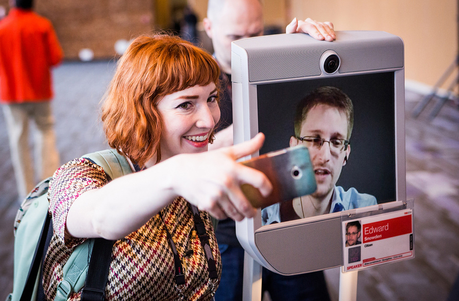Selfie with Snowden Ted2014