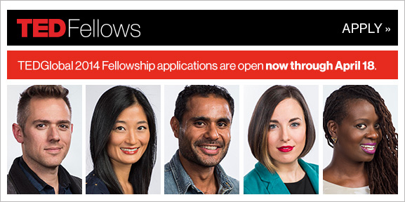 TEDGlobal 2014 fellowship applications are now open
