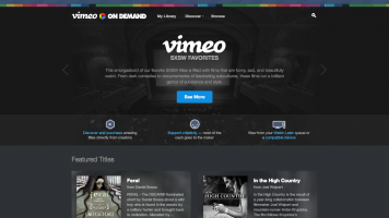 Vimeo On Demand landing page screenshot