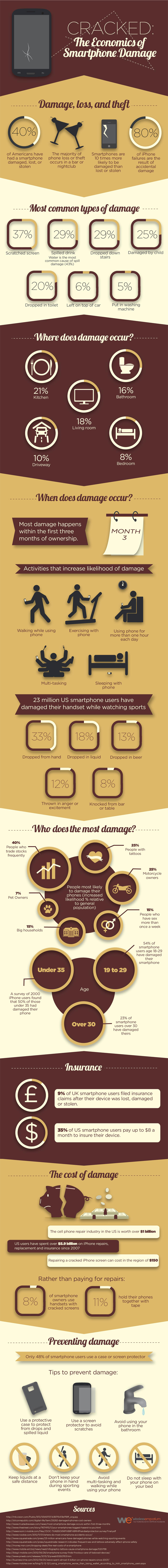 Smartphone Damage Infographic