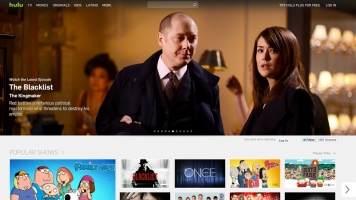 Hulu Online Video Streaming homepage
