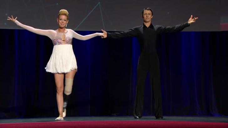 Adrianna Haslet-Davis first ballroom dance performance with her bionic leg