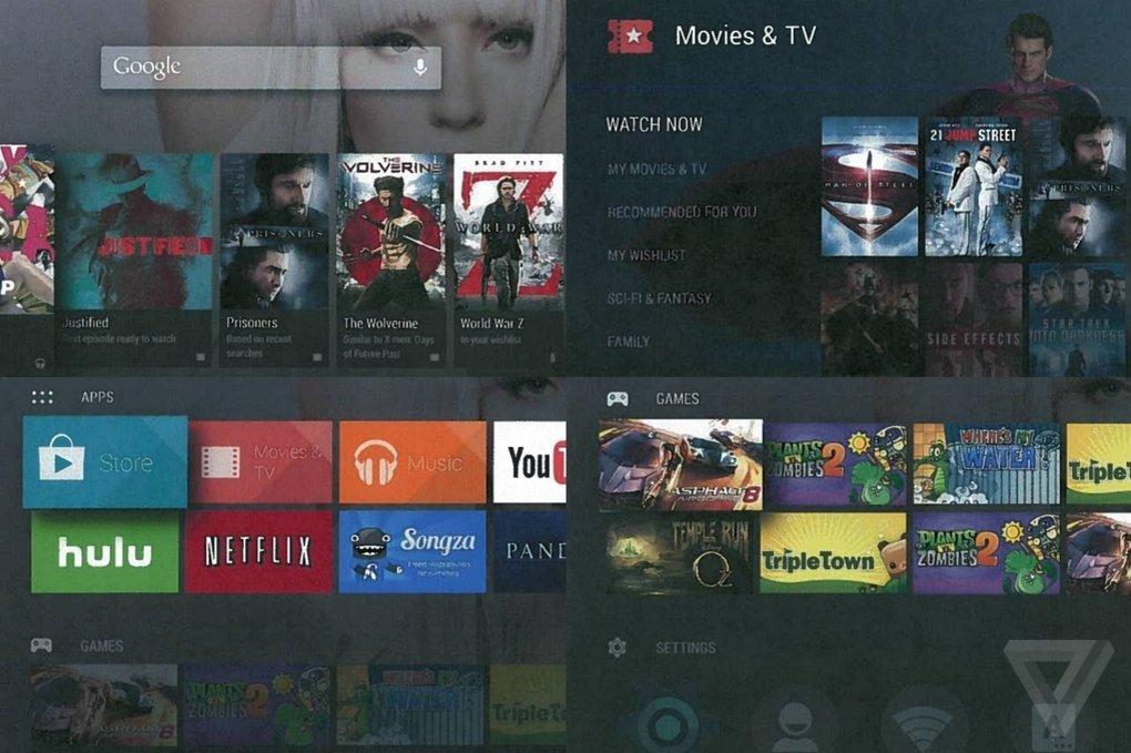 Android TV screenshot