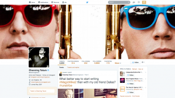 Channing Tatum's redesigned Twitter profile