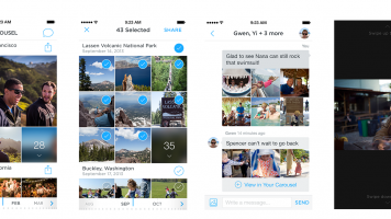 Screenshots of Dropbox Carousel gallery app