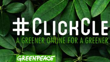 greenpeace clicking green for a green internet