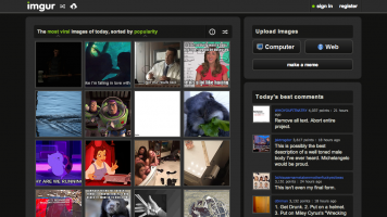 screenshot of the imgur homepage