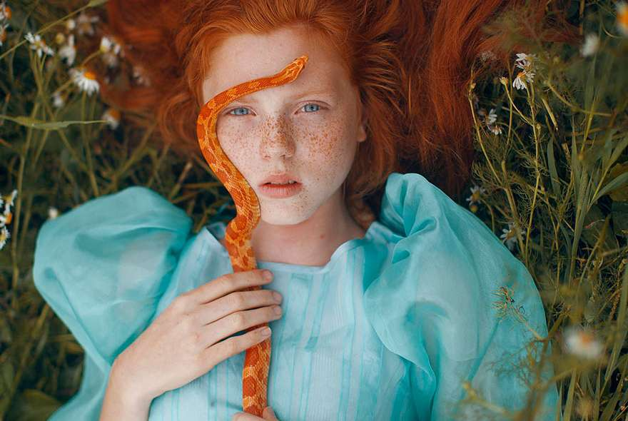 Katerina Plotnikova girl with snake