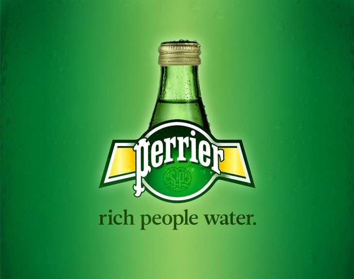 perrier rich people water