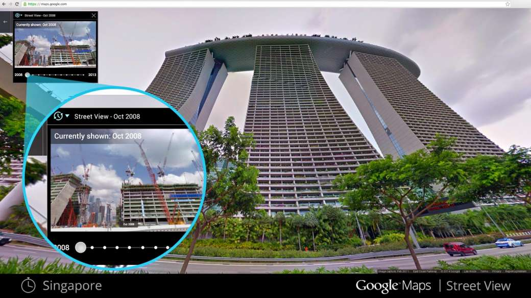 singapore google maps time travel function