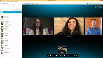 Skype video calling screenshot