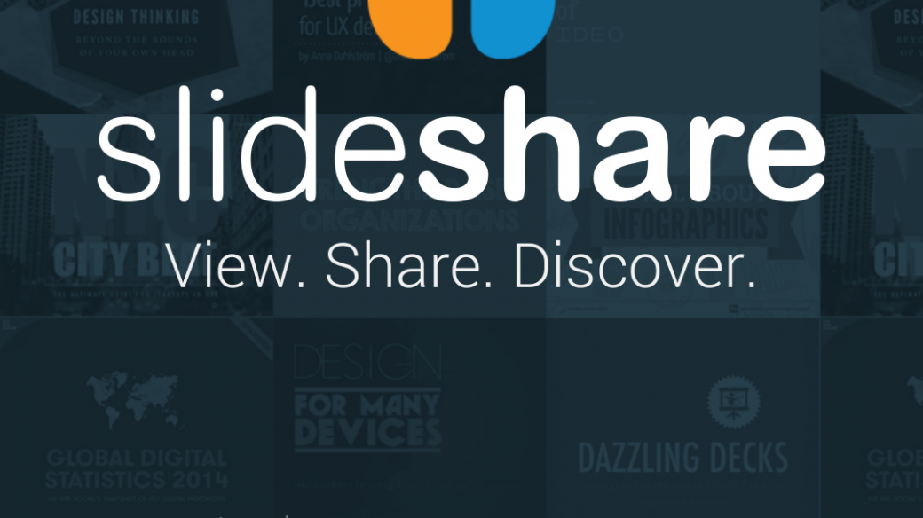 screenshot of slideshare for android login page