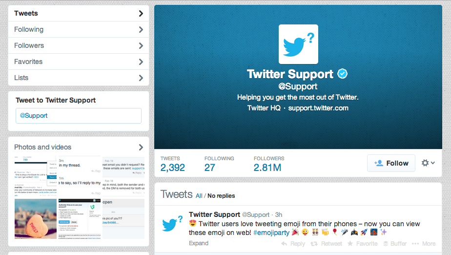 twitter emoji announcement twitter support
