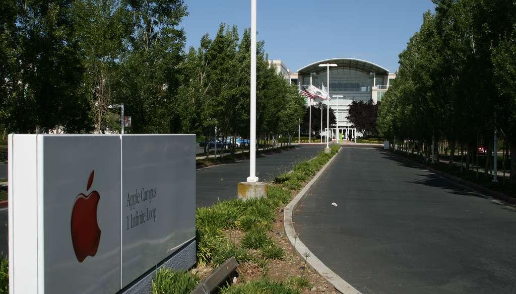 Apple Cupertino headquarters entrance