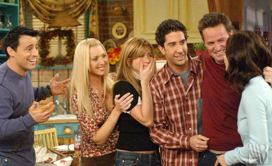 FRIENDS cast on series finale