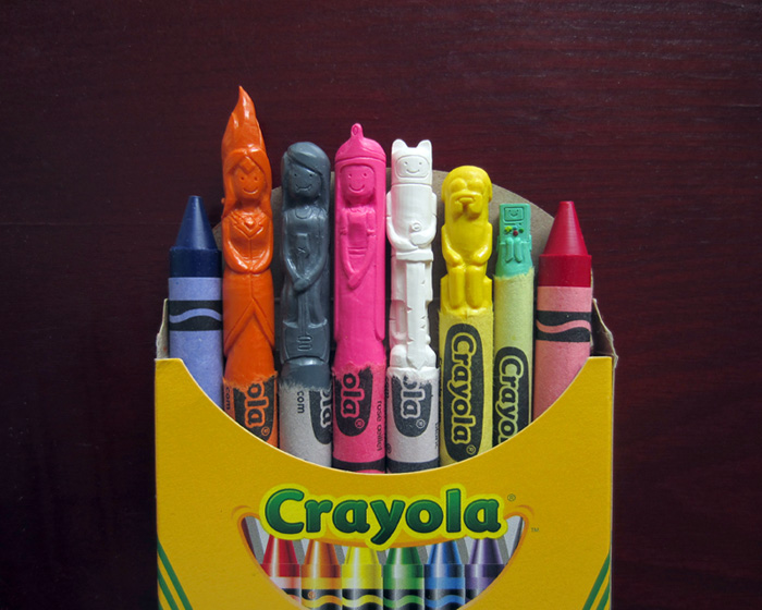 31 Intricately Carved Crayon Sculptures of Your Favorite Characters from Star Wars, South Park and More