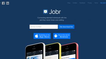 Jobr app homepage
