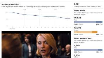 New Facebook video metrics screenshot