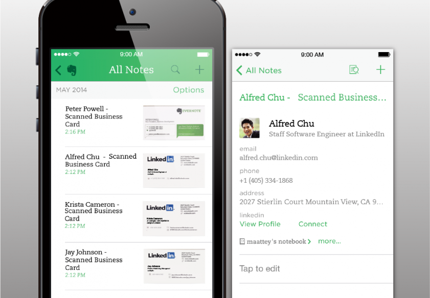 Now Use Business Cards And Linkedin To Create Awesome Contacts In Evernote
