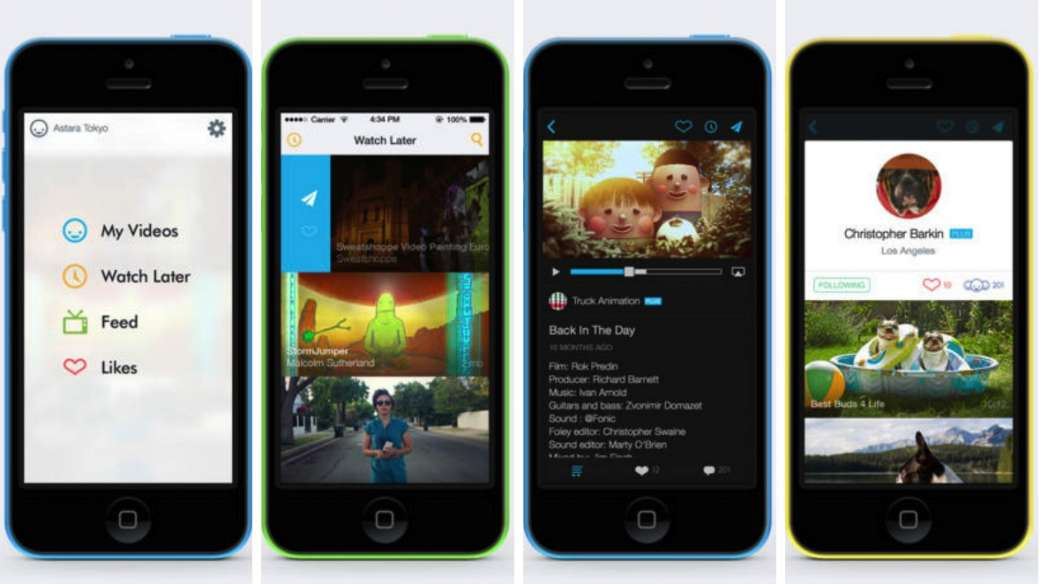 vimeo for ios version 4.1 screenshots
