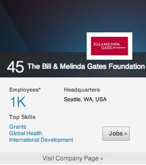 45. bill & melinda gates foundation