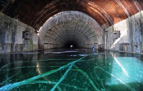 Abandoned Frozen Soviet Submarine