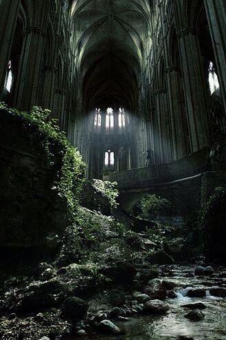 Abandoned church Etienne, France