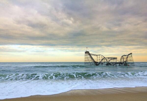 Jet Star, abandoned roller coaster in New Jersey