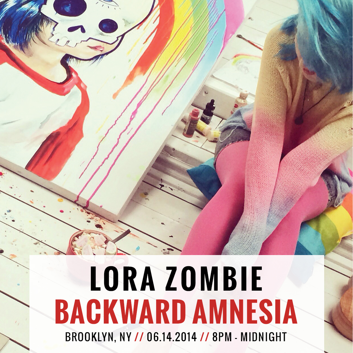 lora zombie backward amnesia flyer