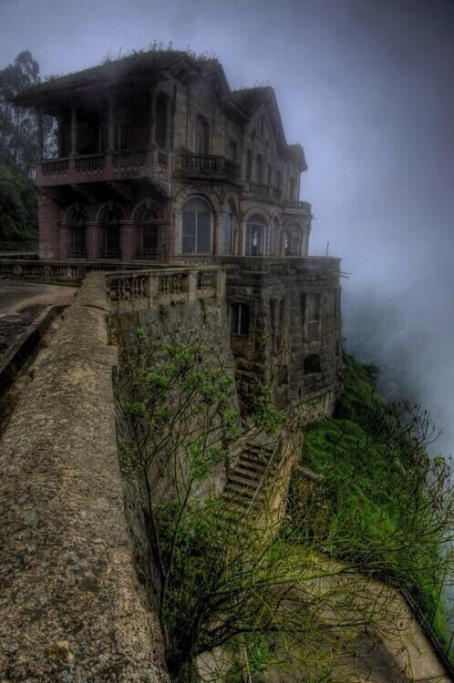 abandoned Hotel del Salto in the Tuquendama Falls area of Colombia