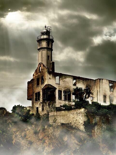 abandoned lighthouse Alcatraz