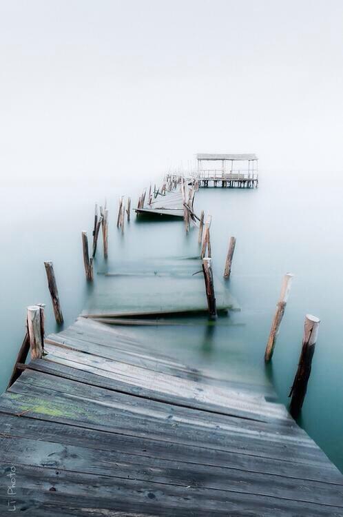 abandoned over-water walkway
