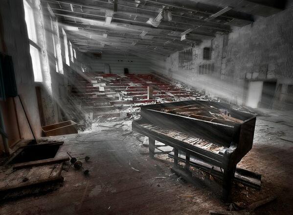 abandoned piano Pripyat